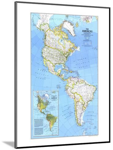 1979 The Americas Map-National Geographic Maps-Mounted Art Print