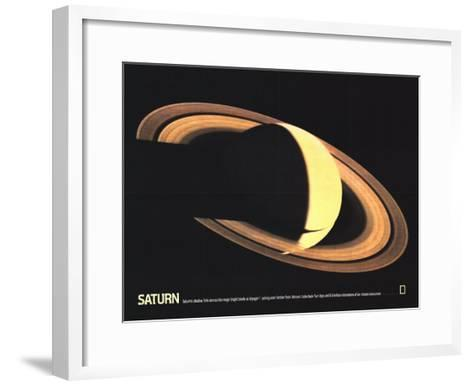 1981 Saturn-National Geographic Maps-Framed Art Print