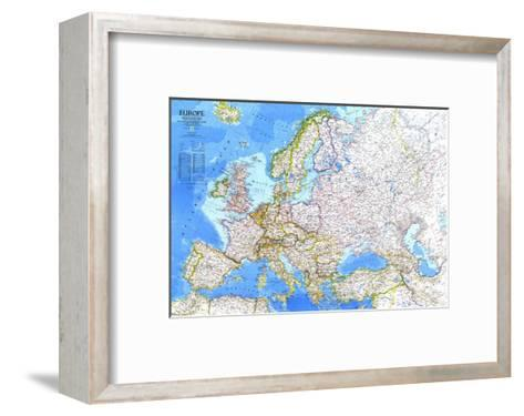 1983 Europe Map-National Geographic Maps-Framed Art Print