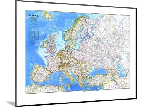 1983 Europe Map-National Geographic Maps-Mounted Art Print