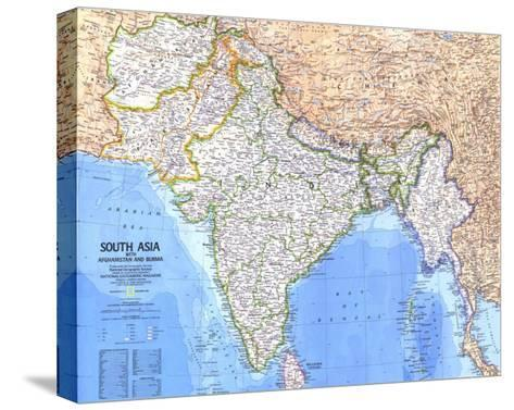1984 South Asia With Afghanistan and Burma Map-National Geographic Maps-Stretched Canvas Print
