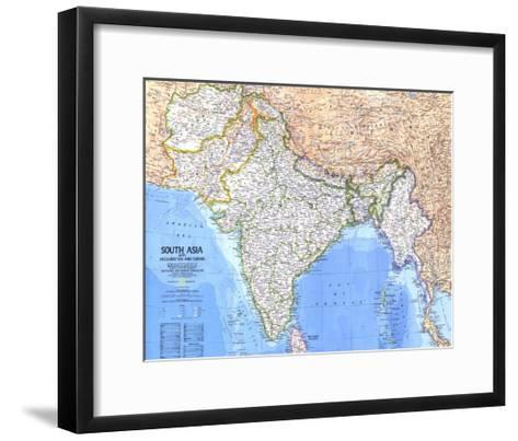1984 South Asia With Afghanistan and Burma Map-National Geographic Maps-Framed Art Print
