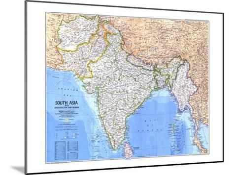 1984 South Asia With Afghanistan and Burma Map-National Geographic Maps-Mounted Art Print