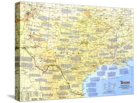 1986 Texas Map-National Geographic Maps-Stretched Canvas Print