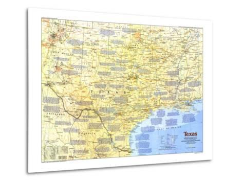 1986 Texas Map-National Geographic Maps-Metal Print