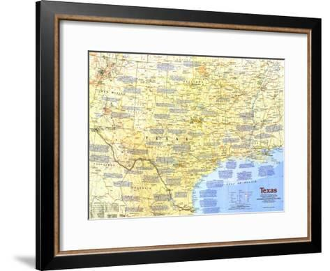 1986 Texas Map-National Geographic Maps-Framed Art Print