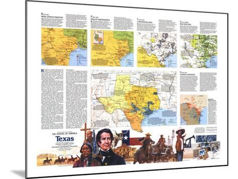 1986 The Making of America, Texas Theme-National Geographic Maps-Mounted Art Print