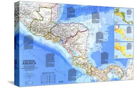 1986 Central America Map-National Geographic Maps-Stretched Canvas Print