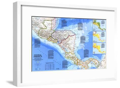 1986 Central America Map-National Geographic Maps-Framed Art Print