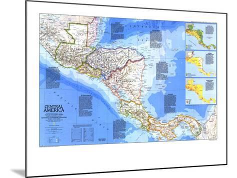 1986 Central America Map-National Geographic Maps-Mounted Art Print