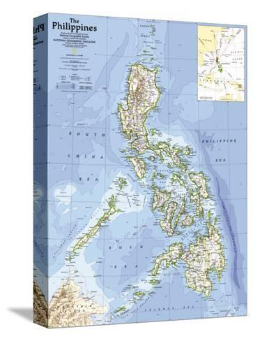1986 Philippines Map-National Geographic Maps-Stretched Canvas Print