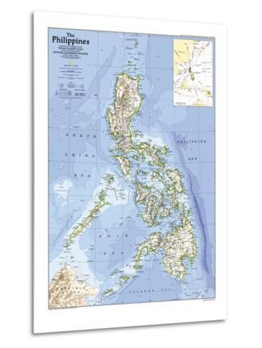 1986 Philippines Map-National Geographic Maps-Metal Print