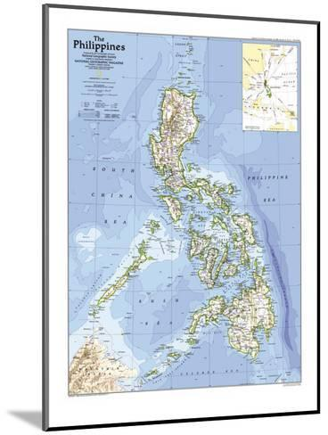 1986 Philippines Map-National Geographic Maps-Mounted Art Print