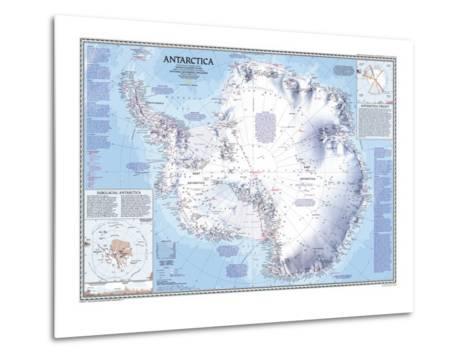 1987 Antarctica Map-National Geographic Maps-Metal Print