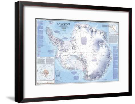 1987 Antarctica Map-National Geographic Maps-Framed Art Print