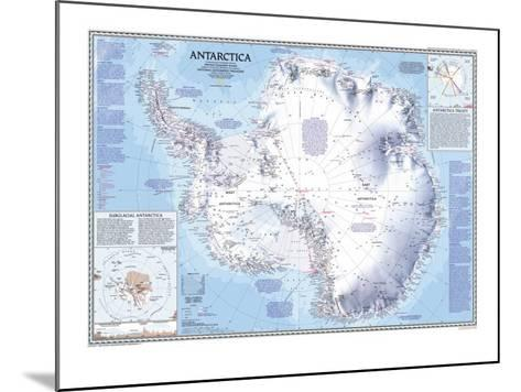 1987 Antarctica Map-National Geographic Maps-Mounted Art Print
