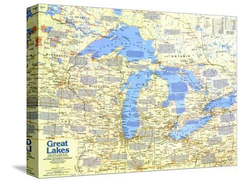 1987 Great Lakes Map Side 1-National Geographic Maps-Stretched Canvas Print