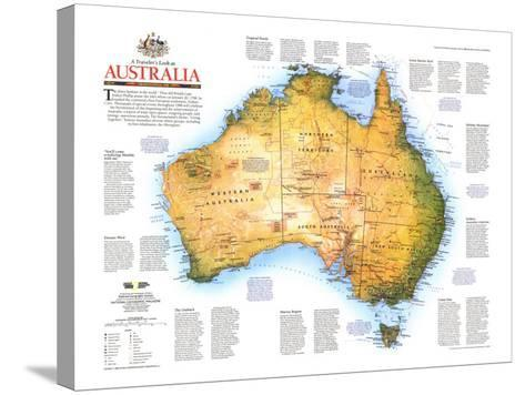 1988 Travelers Look At Australia Map-National Geographic Maps-Stretched Canvas Print