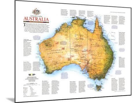 1988 Travelers Look At Australia Map-National Geographic Maps-Mounted Art Print