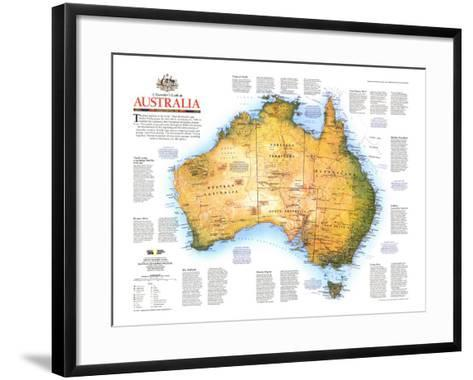 1988 Travelers Look At Australia Map-National Geographic Maps-Framed Art Print