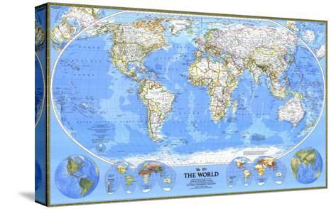 1988 World Map-National Geographic Maps-Stretched Canvas Print