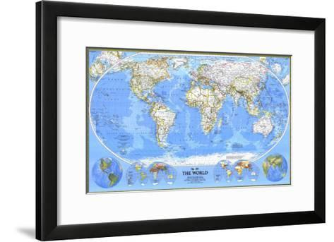 1988 World Map-National Geographic Maps-Framed Art Print