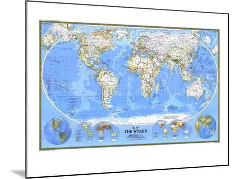 1988 World Map-National Geographic Maps-Mounted Art Print