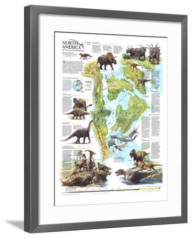 1993 North America in the Age of the Dinosaurs Map-National Geographic Maps-Framed Art Print