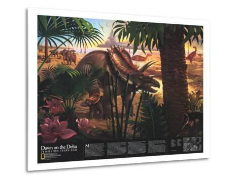 1993 Dawn on the Delta-National Geographic Maps-Metal Print