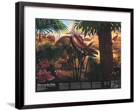 1993 Dawn on the Delta-National Geographic Maps-Framed Art Print