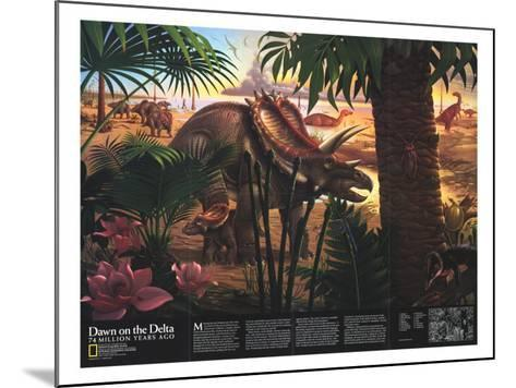 1993 Dawn on the Delta-National Geographic Maps-Mounted Art Print