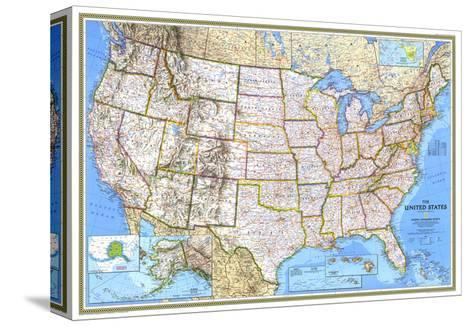 1993 United States Map-National Geographic Maps-Stretched Canvas Print