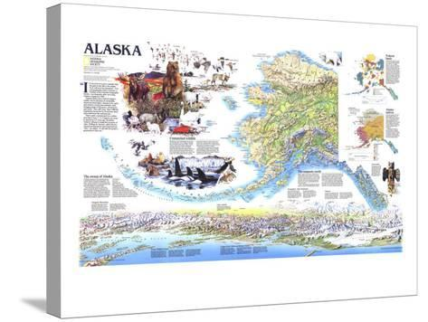 1994 Alaska Theme-National Geographic Maps-Stretched Canvas Print