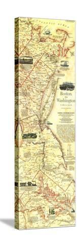 1994 Boston To Washington Circa 1830 Map-National Geographic Maps-Stretched Canvas Print