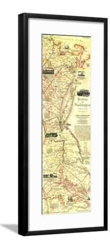 1994 Boston To Washington Circa 1830 Map-National Geographic Maps-Framed Art Print