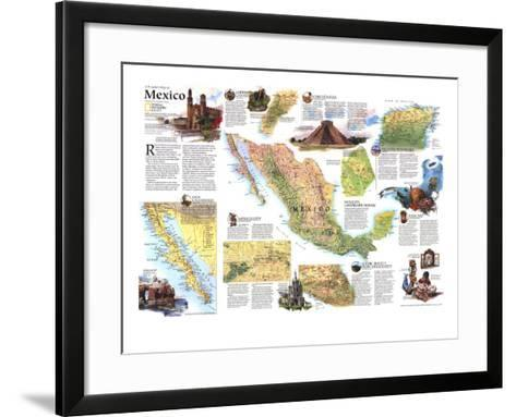 1994 Travelers Map of Mexico-National Geographic Maps-Framed Art Print