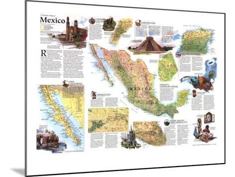 1994 Travelers Map of Mexico-National Geographic Maps-Mounted Art Print