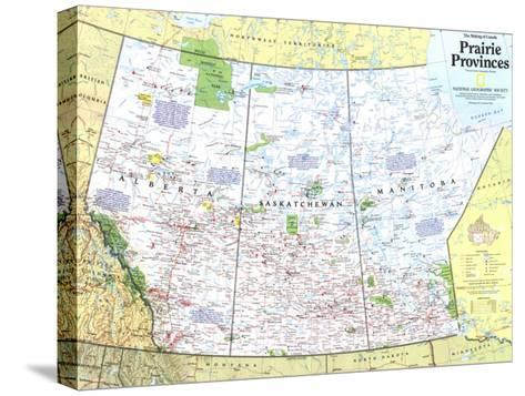 1994 Making of Canada, Prairie Provinces Map-National Geographic Maps-Stretched Canvas Print