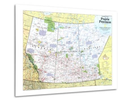 1994 Making of Canada, Prairie Provinces Map-National Geographic Maps-Metal Print