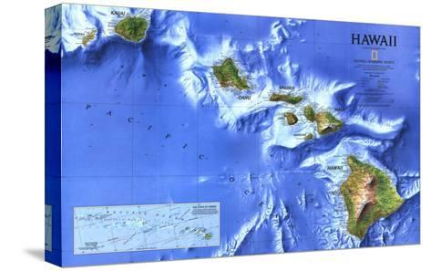 1995 Hawaii Map-National Geographic Maps-Stretched Canvas Print