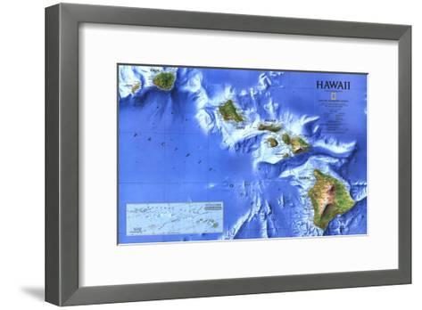 1995 Hawaii Map-National Geographic Maps-Framed Art Print