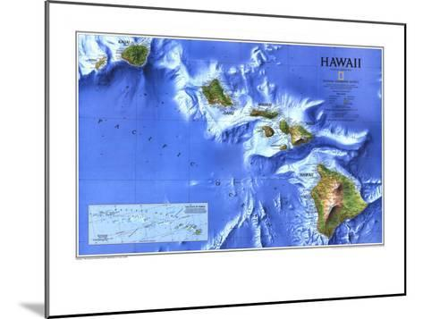 1995 Hawaii Map-National Geographic Maps-Mounted Art Print