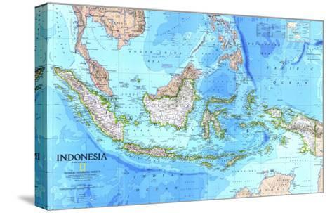 1996 Indonesia Map-National Geographic Maps-Stretched Canvas Print