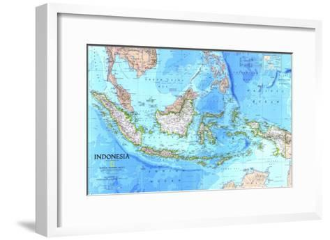 1996 Indonesia Map-National Geographic Maps-Framed Art Print