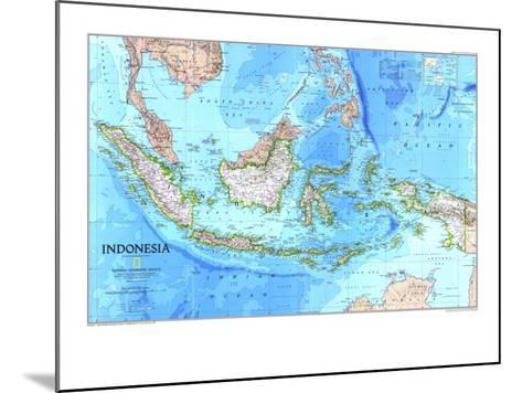1996 Indonesia Map-National Geographic Maps-Mounted Art Print