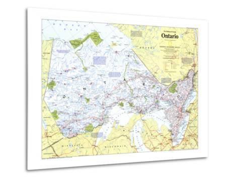 1996 Making of Canada, Ontario Map-National Geographic Maps-Metal Print