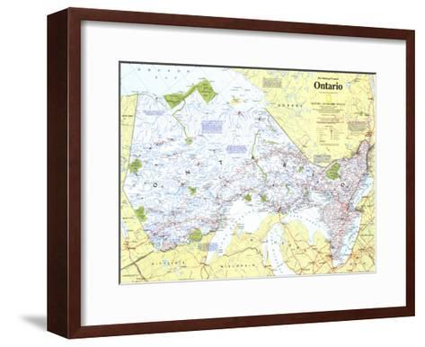 1996 Making of Canada, Ontario Map-National Geographic Maps-Framed Art Print