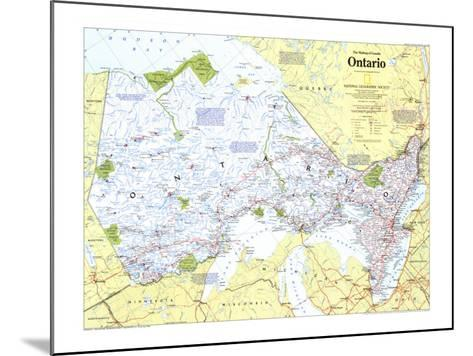 1996 Making of Canada, Ontario Map-National Geographic Maps-Mounted Art Print