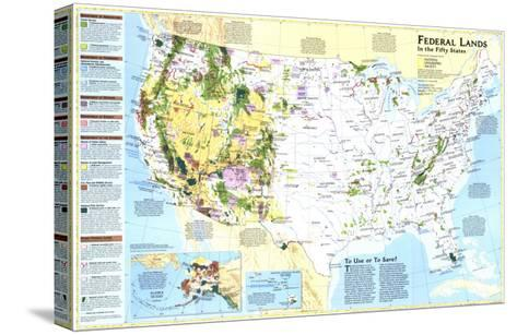 1996 Federal Lands in the Fifty States-National Geographic Maps-Stretched Canvas Print