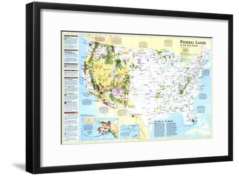 1996 Federal Lands in the Fifty States-National Geographic Maps-Framed Art Print